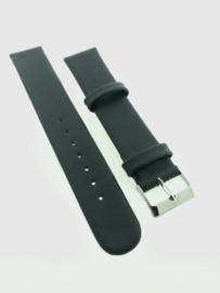 Horlogebandje 18 mm donkergrijs