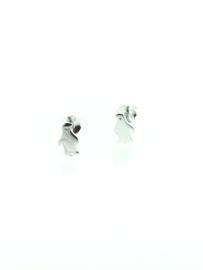 Zilveren oorstekers pinguin