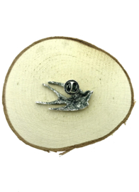 Broche bronzen zwaluw