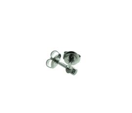 Edelstalen zweerknopjes hart zilver-kleur 'klein'