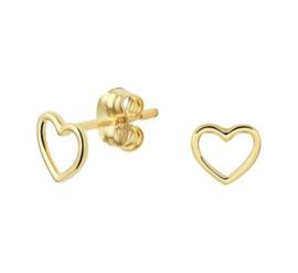 Gouden oorknopjes hartje