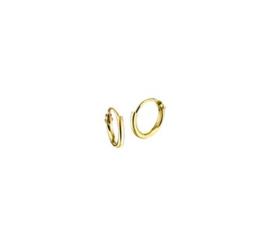 Gouden oorringetjes 9mm