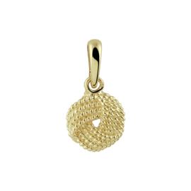 Gouden kettinghanger knoop