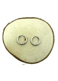 Edelstalen klapcreolen zilver 19 mm