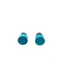Ronde oorstekers blauw / aqua