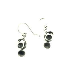 Zilveren oorhangers abstract