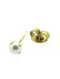 Zweerknopjes goud met parel