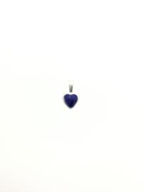 Zilveren kettinghanger hart lapis