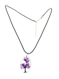 Hanger van kunsthars bloem lila