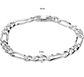Armband figaro 6,0 mm 20 cm