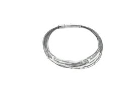 Zilveren armband met bolletjes en staafjes