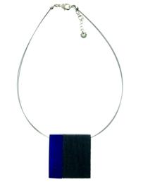 CultureMix collier blauw/zwart