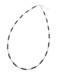 Zilveren collier met schijfjes oxi