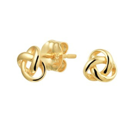 Gouden oorknopjes knoop