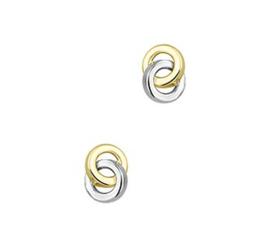 Gouden oorknopjes twee rondjes