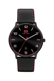Danish Design Horloge zwart 39 mm
