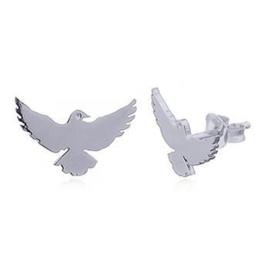 zilveren oorknopjes: vogel