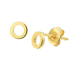 Gouden oorknopjes rond