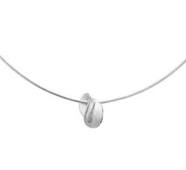 Collier hanger gescratcht poli/mat 1,0 mm 45 cm
