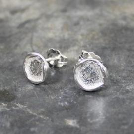 Zilveren ronde oorstekers
