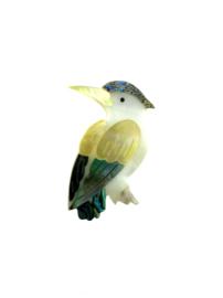 Broche vogel parelmoer
