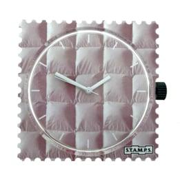 STAMPS-horloge wit kussen