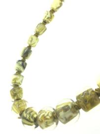 Zsiska collier cirkels geel