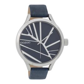 OOZOO Timepieces blauw horloge 43 mm