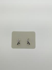 Zilveren oorstekers giraf