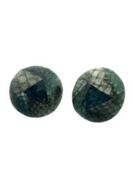 Clips rond groen/grijs