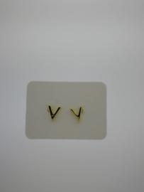 Goud op zilver oorsteker V