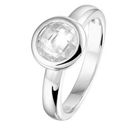 Zilveren ring zirkonia zetkast