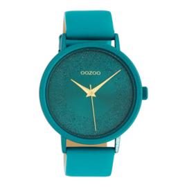 OOZOO timepieces groen-blauw 42 cm