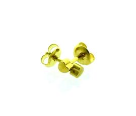 Zweerknopjes hartjes goudkleur groot