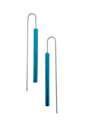 Oorbellen staaf aquamarijn / blauw