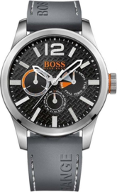 Hugo Boss Orange grijs edelstaal 47 mm