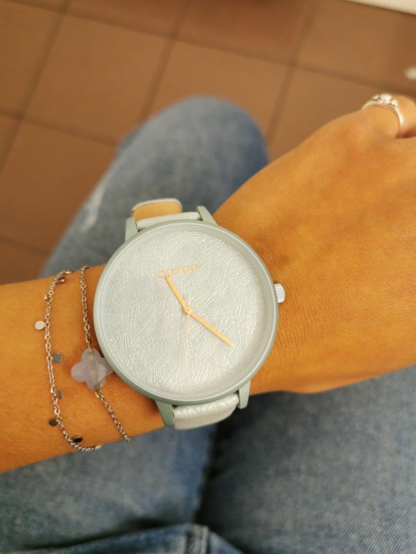 OOZOO timepieces lichtblauw 44 mm