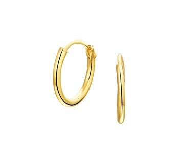 Gouden oorringetjes 13 mm