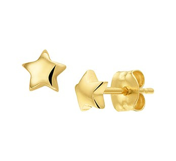 Gouden oorknopjes ster