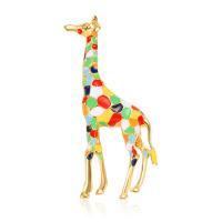 Broche giraffe multicolor