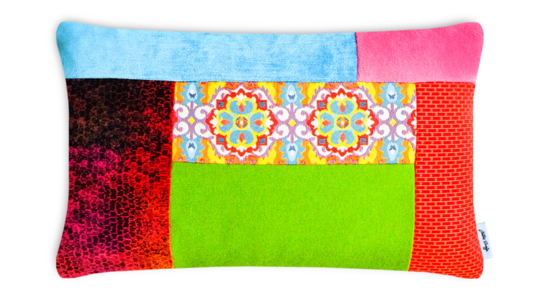 Patchwork kussen, A Patch of Multi 35 x 55 cm (3556)