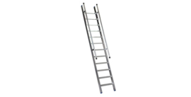 Facal enkele rechte trappen met tweezijdige leuning,  breedte 45 cm