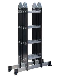 576404 - Quatro Multifold Black vouwladder 4 x 4 sporten ☼+