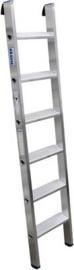 Krause 124401 Aluminium Ladder Werkhoogte (max.): 2.70 m Zilver 3.6 kg