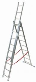 FACAL Stilo driedelige reformladder 3 x 8 sporten☼+ - FASL2303