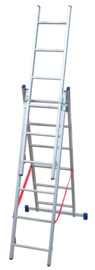 FACAL Stilo driedelige reformladder 3 x 6 sporten ☼+ - FASL1803