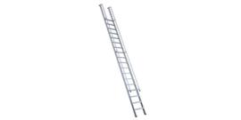 Facal  enkele rechte trappen met tweezijdige doorlopende leuning,  56 cm breedte