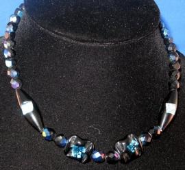 Aurora Borealis zwarte ketting