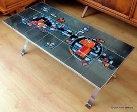Design salontafel / tegeltafel gesigneerd Adri, België, 60er jaren