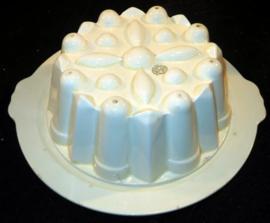 Société Céramique puddingvorm met onderschaal